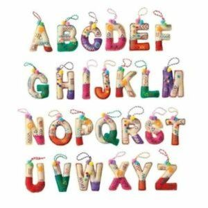 3/$10 NWT Holiday Cheer Alphabet Ornament - D or M